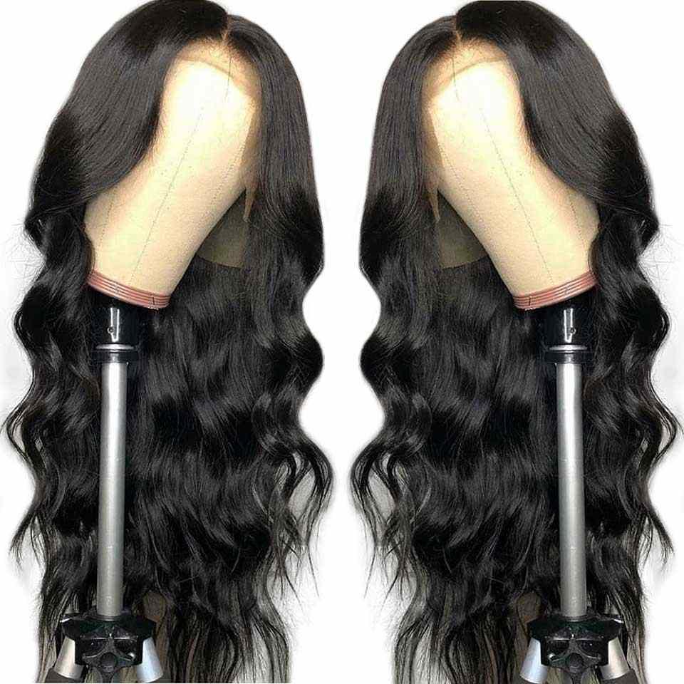 150% перуанские Синтетические волосы на кружеве человеческих волос парики 13x4 бесплатная часть не Реми волнистые волосы парики с детскими волосами для черный Для женщин