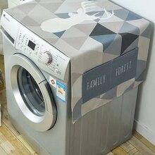 Геометрический ромбик пылезащитный чехол для стиральной машины Чехлы для холодильника пыль с карманом хлопок лен микроволновые пылезащит...