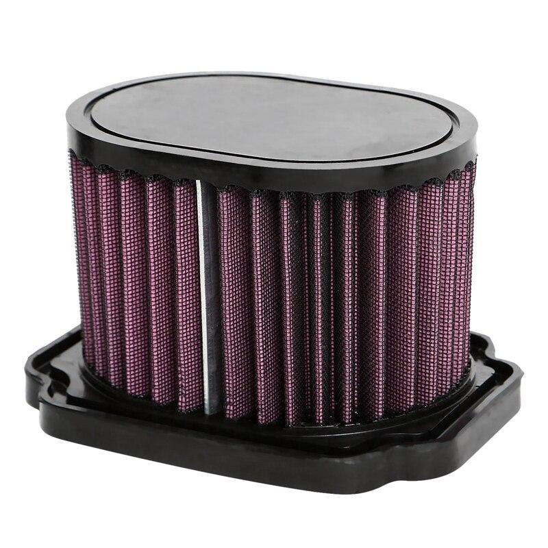 Otomobiller ve Motosikletler'ten Araba Hava Temizleyicileri'de Yüksek performanslı akış benzersiz hava filtresi Yamaha Mt07 Fz07 Xsr700 689 2013 2014 2015 2016 yıkanabilir kullanımlık title=