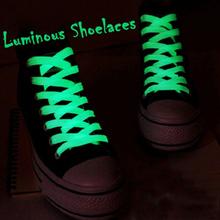 1 para 60cm płaskie odblaskowe Runner sznurowadła bezpieczeństwa Luminous świecące sznurowadła Unisex dla sportu koszykówka brezentowych butów tanie tanio KAIGOTOQIGO Stałe Poliester