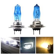 2 шт. ход H7 55 Вт 100 Вт высокое качество галогенные лампы Авто Фары для автомобиля Xenon H7 55 Вт/100 вт Защита от солнца свет/ультра-белый свет 4500 К 6000 К туман