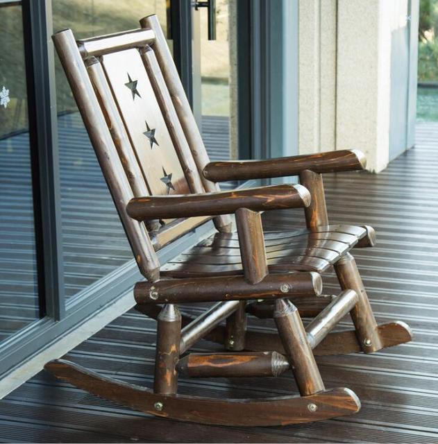 Outdoor  Wooden Rocking Chair  3