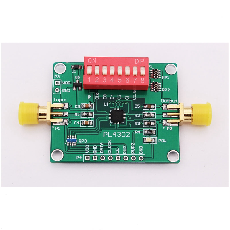 Digital RF Attenuator Module Series And Parallel Port Control 0.5dB~31.5 DB Range PE4302