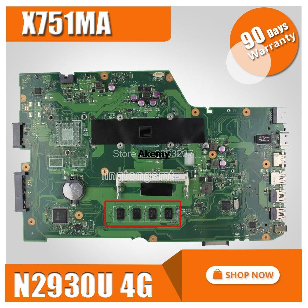 X751MA For ASUS Motherboard X751MD REV2.0 Mainboard Processor N2930 4G Original 100% Test