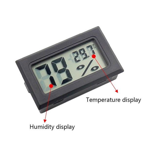 1Pc Mini Indoor Thermometer Digital LCD Temperature Sensor Humidity Meter Thermometer Hygrometer Gauge Fridge Thermometers 3
