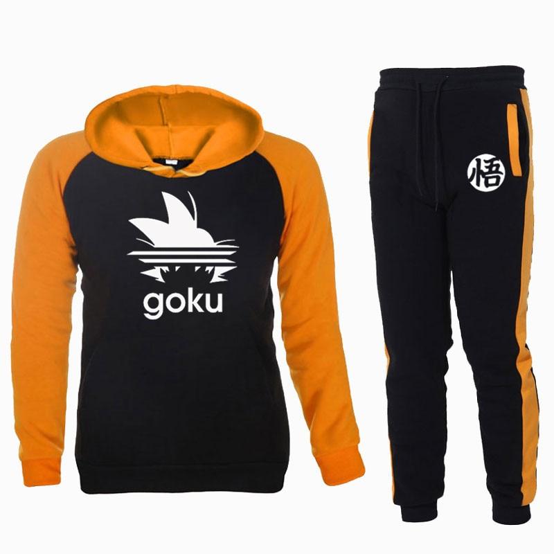Mens Sportswear Sets Dragon Ball Z Japan Anime Hoodies Pant 2020 Casual Tracksuit Men Sweatshirt Jogging Harajuku Sweatpants0