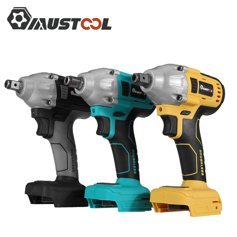 Li 800N Ion Wrench M Screwdriver 388VF Electric 22800mAh MUSTOOL Tools Batery Wrench Cordless Brushless Impact Torque Power