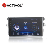 HACTIVOL 2 din android 8.1 car dvd gps navigation for Toyota corolla 2007 2008 2009 2010 2011 car dvd radio gps stereo bluetooth for toyota corolla support year 2007 2008 2009 2010 with 3g wifi multi touch screen car dvd gps navigation build in bluetooth radio with rds analog tv aux