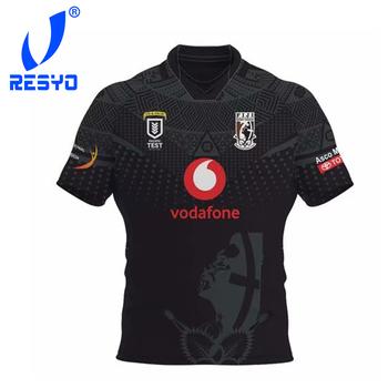 RESYO dla fidżi BATI RUGBY JERSEY sportowa koszula S-3XL tanie i dobre opinie NoEnName_Null Krótki Poliester Koszulki Pasuje prawda na wymiar weź swój normalny rozmiar 2020 FIJI BATI