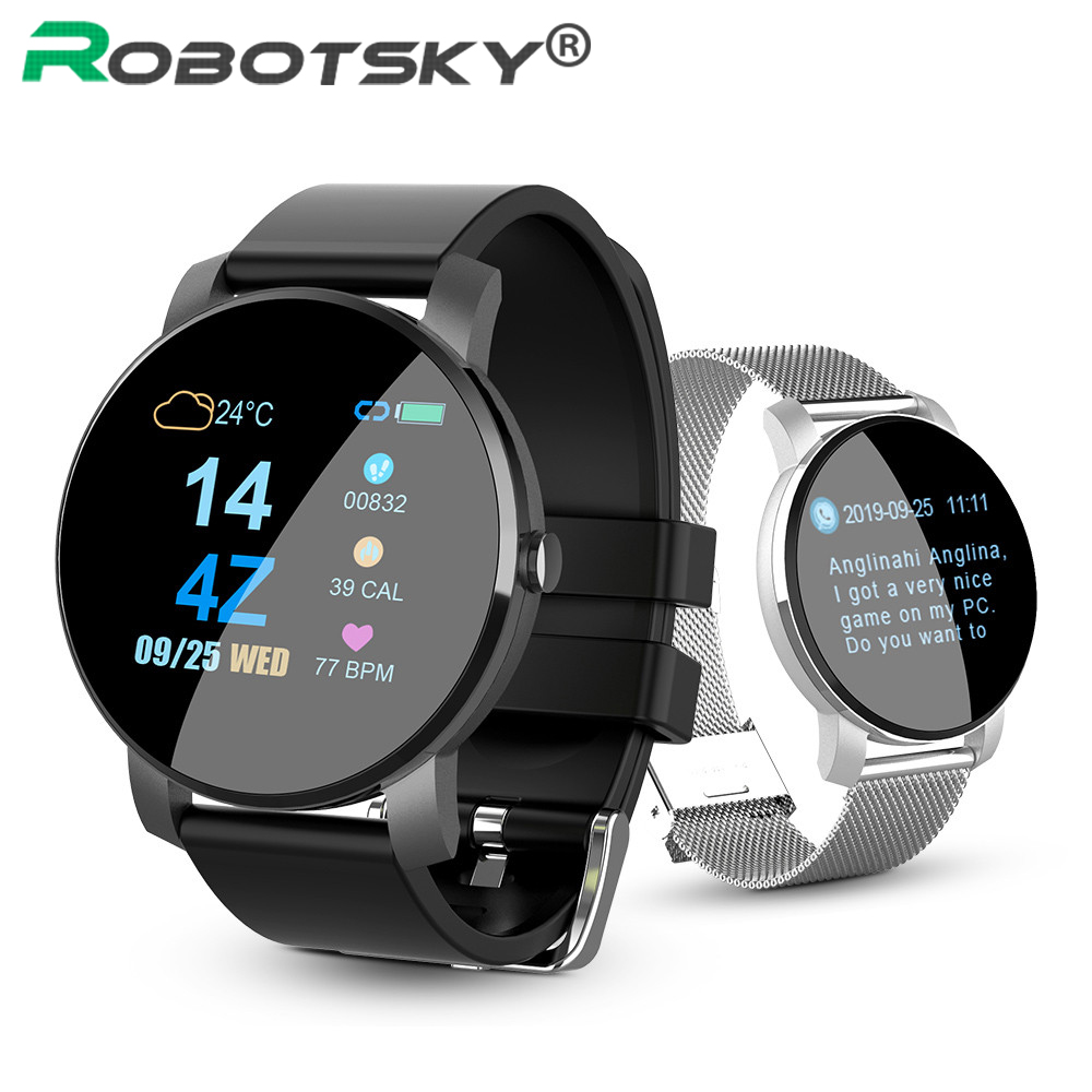 <font><b>Q5</b></font> Smart <font><b>Watch</b></font> Heart Rate Blood Pressure IP67 Waterproof Weather Sports Smartwatch Women Men For Android IOS Smart Bracelet image