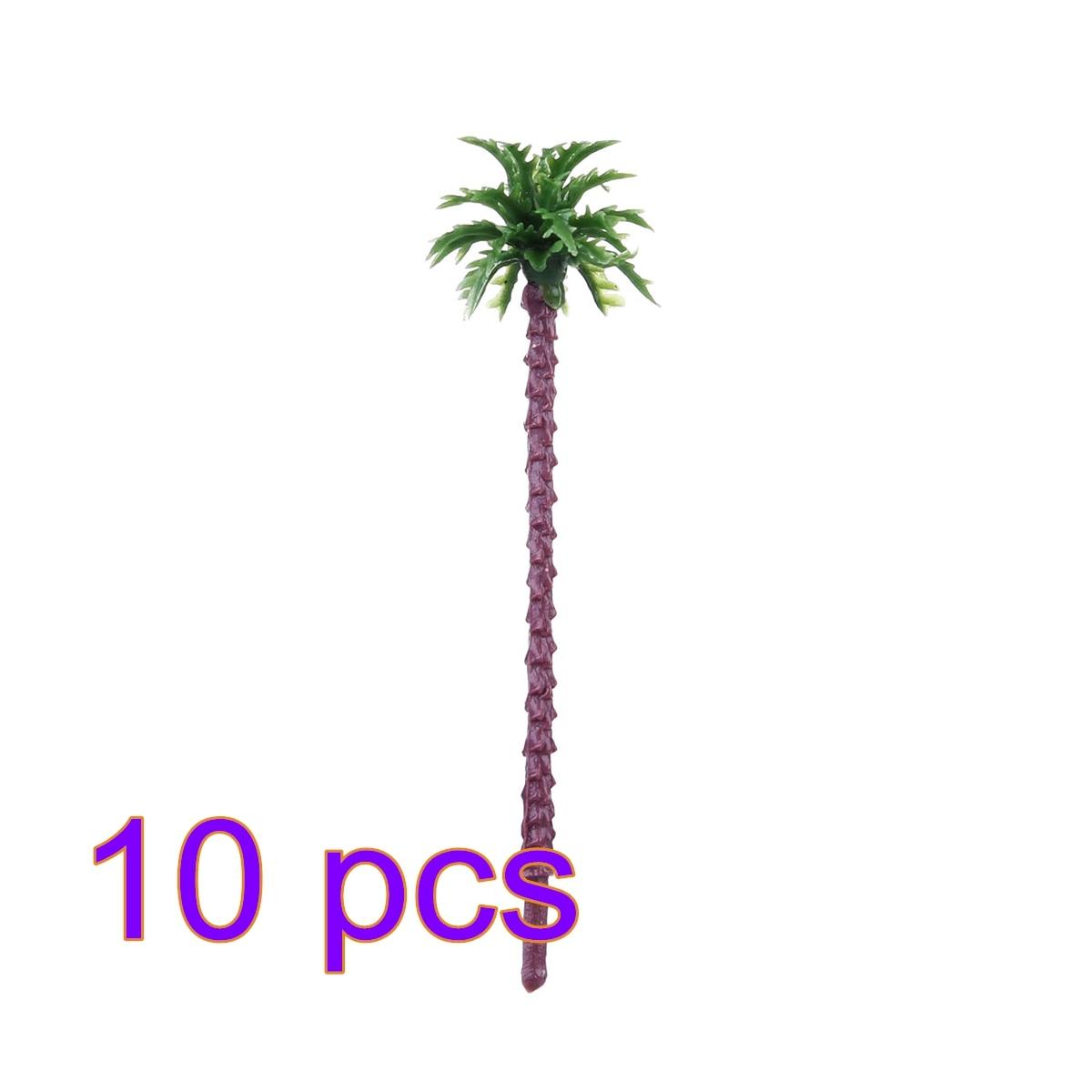 10 Pcs 5.5cm Plastic Coconut Palm Tree Train Railroad Architecture Diorama Diy  Model Trees For Railroad Trains