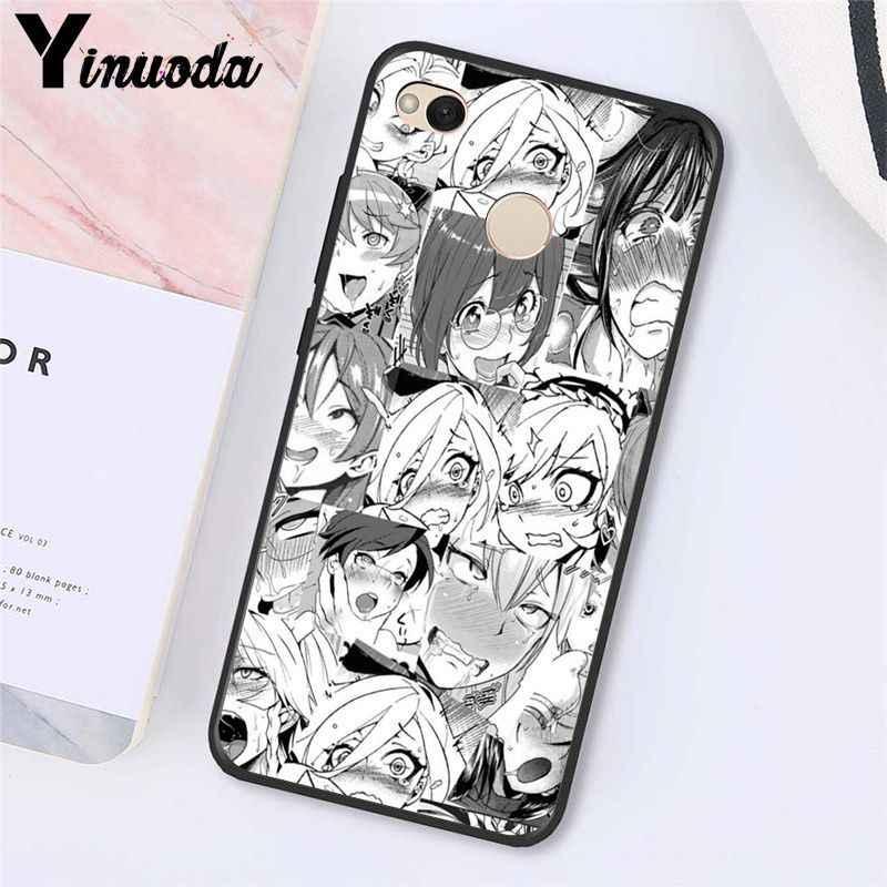 Yinuoda chica Anime de dibujos animados de Japón cara linda funda de teléfono para Xiaomi mi5 6 A1 A2 Lite Mi9 9SE mi8lite F1 Mix2 2S Max2 3
