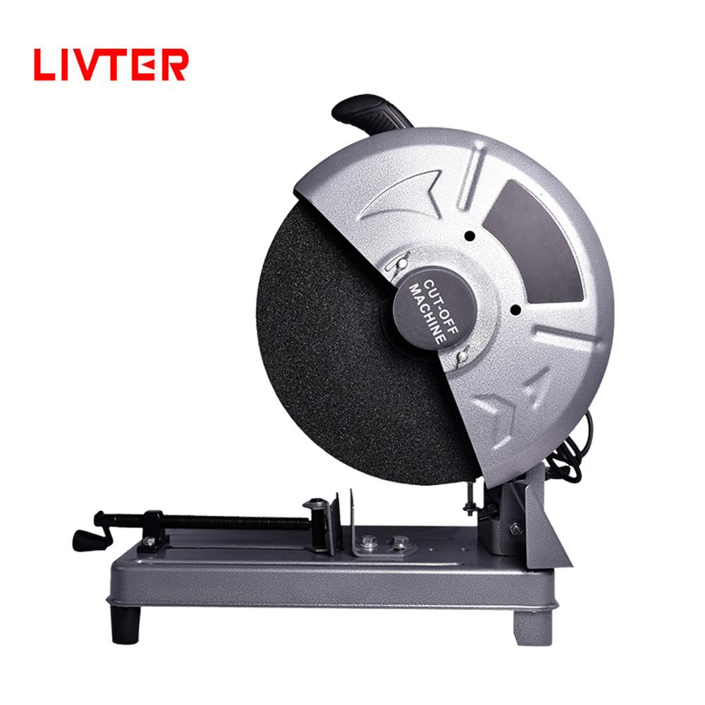 LIVTER 14 Inch Electric Power Wood Aluminum Metal Pipe Cut Off Machine With Circular Saw Disc Wheel