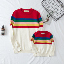 2018 Newest Desgin Mom Son Outfits Mommy and Me Mother Daughter Sweatshirt Clothes Family Matching Sweaters Cotton Autumn E0322