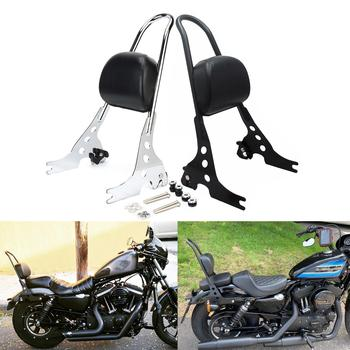 For Harley '04-later XL1200 XL883 Passenger Backrest Pad Sissy Bar Cushion For Sportster Iron 1200 883 Forty Eight SuperLow 2019 for harley sportster 1200 iron 883 roadster forty eight custom seventy two superlow motorcycle sissy bar passenger pad backrest