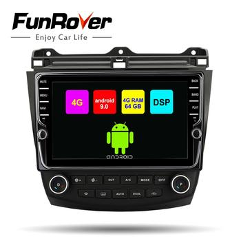 Funrover octa 8 core 2din car multimedia dvd player android 9.0 for Honda Accord 7 2003-2007 SIM radio gps navigation stereo DSP