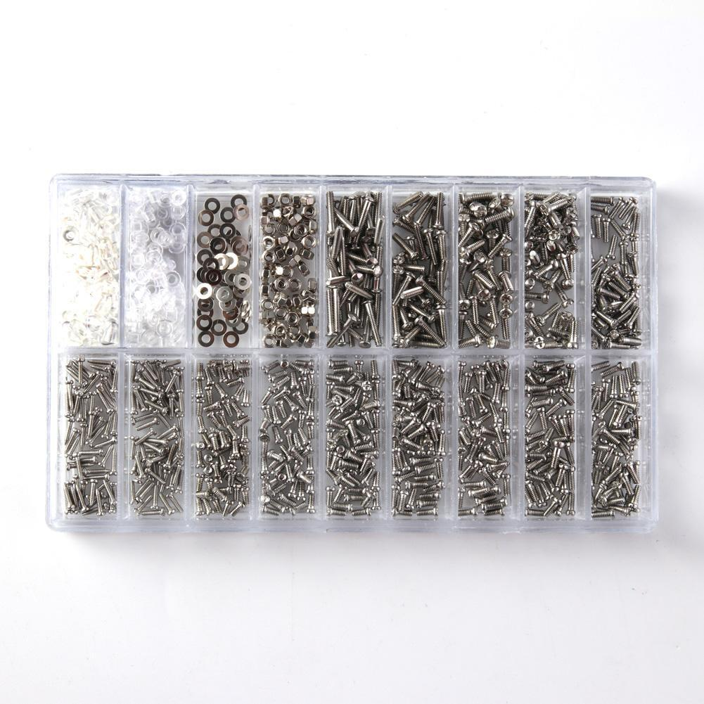 1000X Tiny Screws Nut + Screwdriver Watch Eyeglass Glasses Repair Tool Set