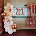 4D Rose gold balloon...