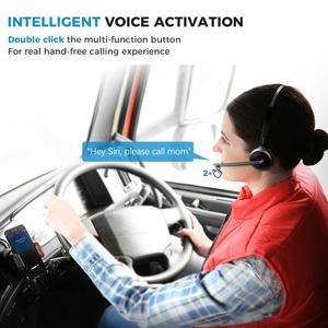 Image 2 - Mpow M5 Bluetooth V5.0 אוזניות אלחוטי משאית נהג אוזניות דיבורית שיחת אוזניות עם מיקרופון למוקד טלפוני משרד סקייפ