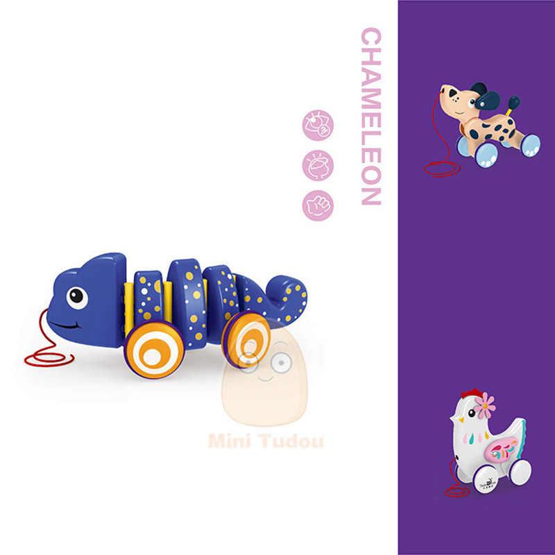 Baby Tier Drag Fahrzeuge Spielzeug Infant Nette Pull Seil Cartoon Twist Auto Kordelzug Spiel Frühen Pädagogisches Spielzeug Für Kinder