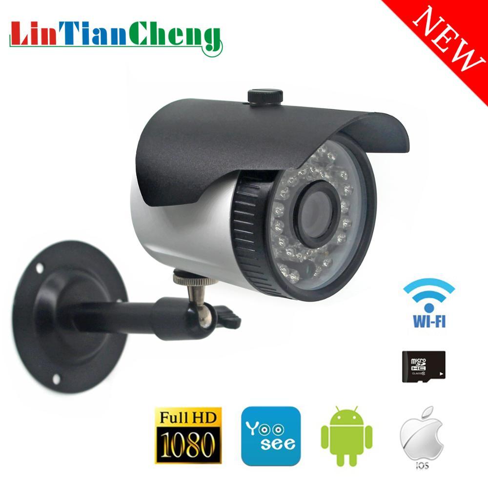 Câmera De Segurança wi-fi Ao Ar Livre Yoosee HD 1080P Bala Night Vision Home Mini 2.0MP CCTV Câmera ip De Vigilância de Rua