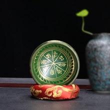 New 9.5cm Arrivials Buddhism Accessory Tibetan Meditation Hammered Alms Bowl Yoga Copper Sound Therapy Chakra Singing Blue