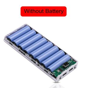 Image 5 - (No Battery) Dual USB 8x 18650 Batteries DIY Power Bank Box Holder Case Charger Power Adapter For Mobile Phone Tablet