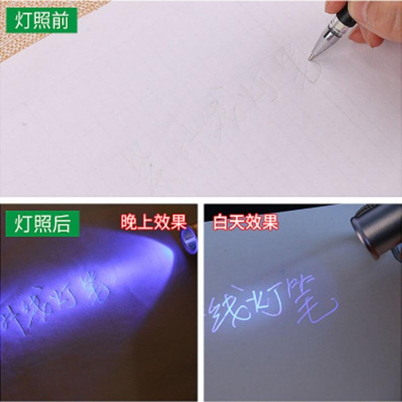 100pc fabrica uv ultravioleta invisivel recargas mostrando tecido de malha tecido de couro pu borracha marcacao