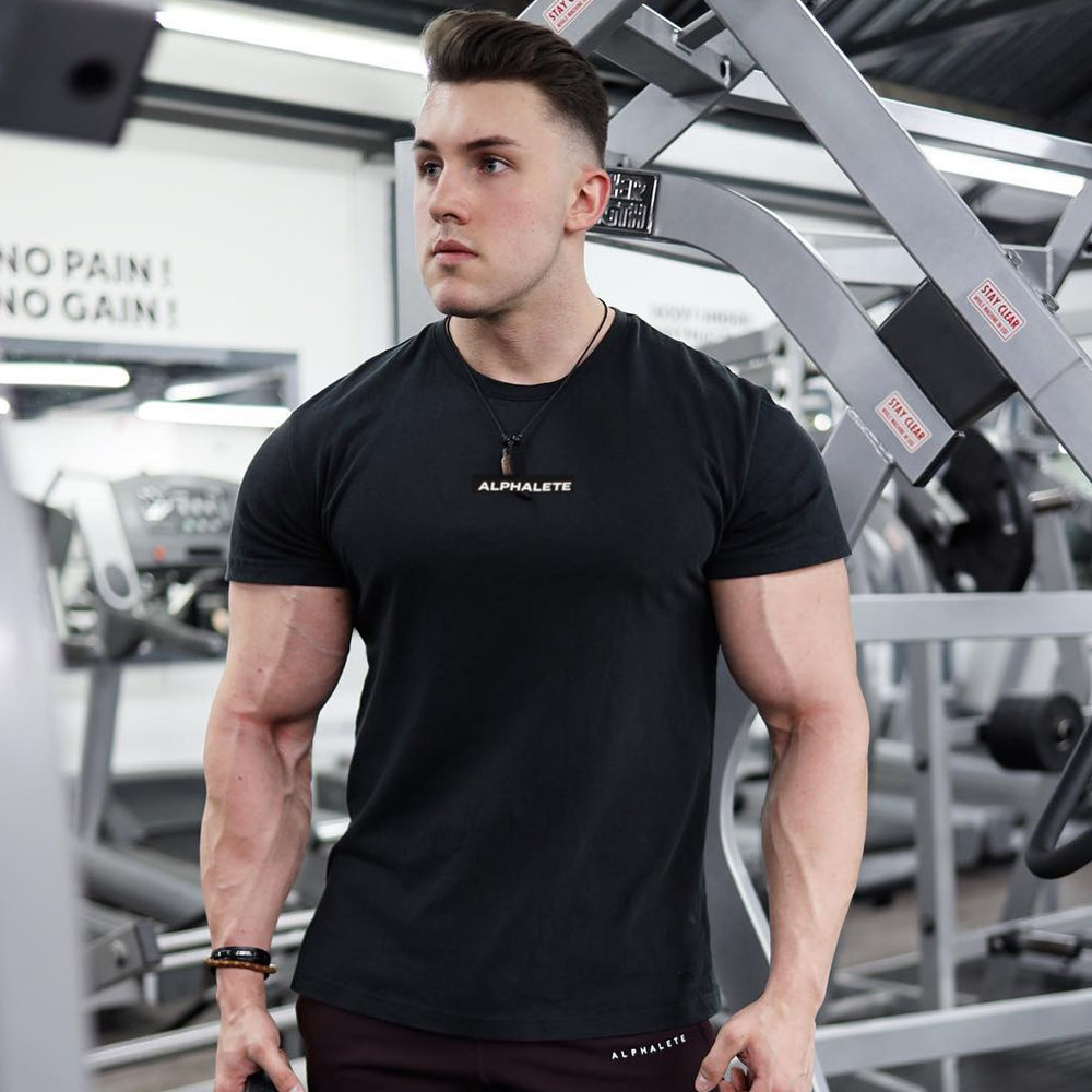 Gym Cotton T-Shirt for Men Mens Clothing Tops & T-shirts
