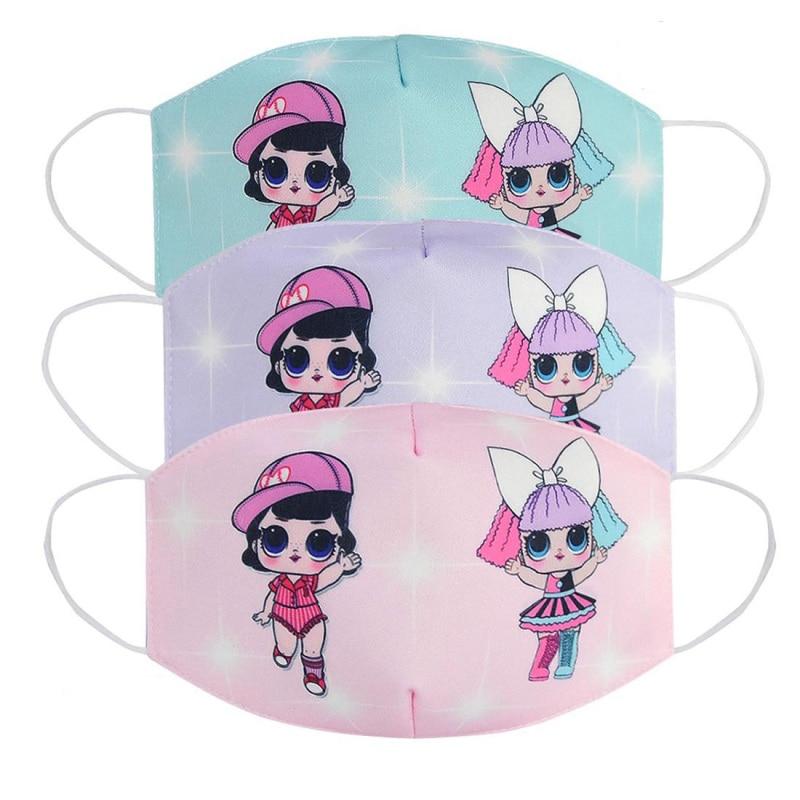 2020 Women Men Cotton Dustproof Mouth Mask Cartoon Doll Anti-Dust Facial Cover Breathable Face Masks ZXT224