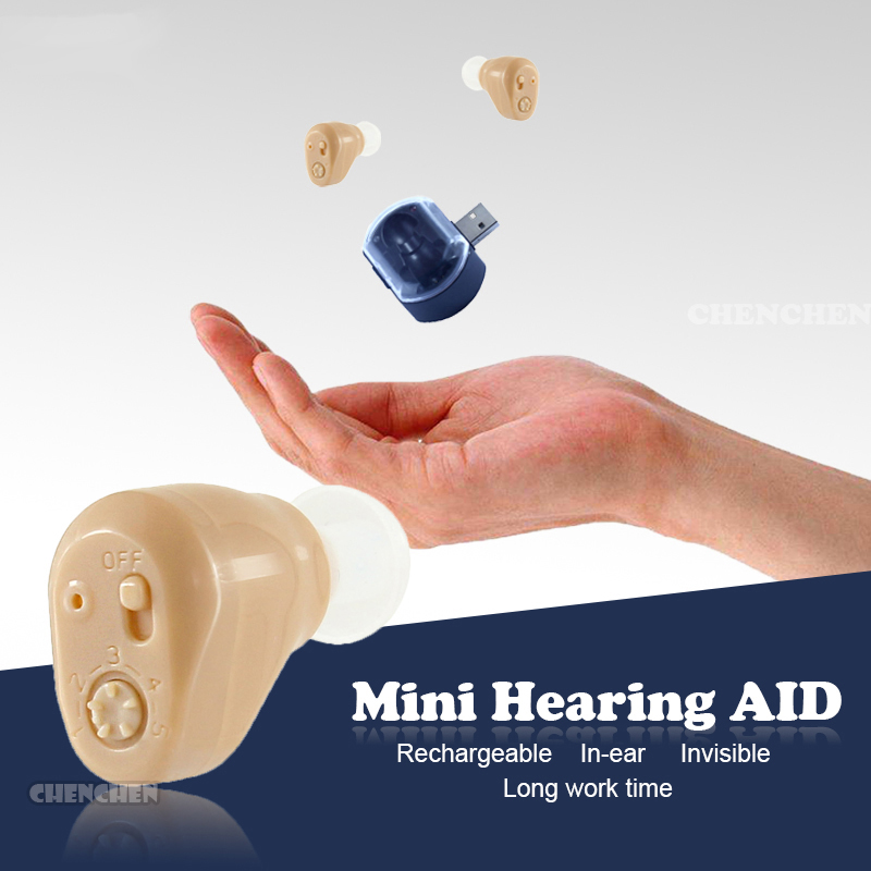 Deaf Aid Portable Hearing Aids In Ear Rechargeable Aparelho Auditivo Audifono