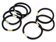 30PCS/ metal High Quality Women black Elastic Hair Rubber Band  Hair Rope Ponytail Holder Girl Hair Accessories Tie Gum