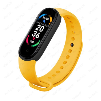 M6 Smart Band Watch Men Women Bluetooth Smartwatch Heart Rate Fitness Tracking Sports Bracelet For Apple Xiaomi Watches Bluetooth Device Electronics M6 Smart Electronics Smart Watches Xiaomi Color: Yellow