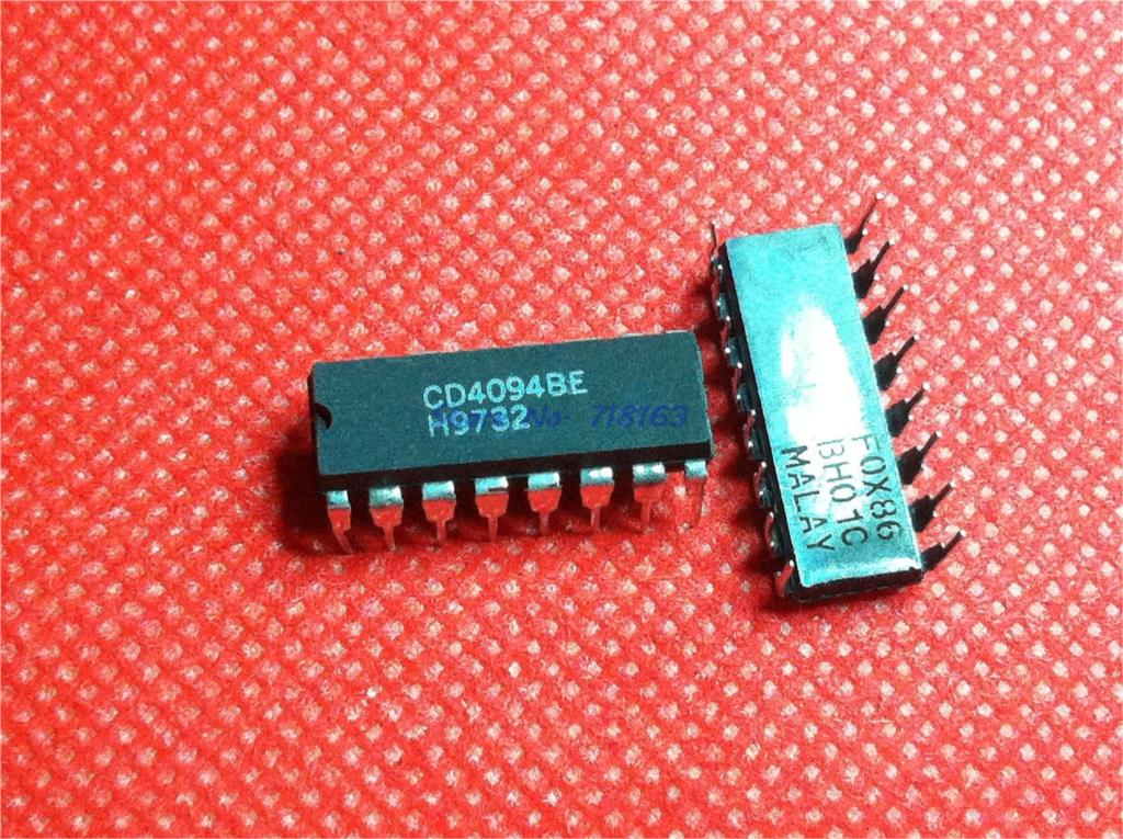 2PCS CD4094BE DIP-16 CD4094 4094 NEW IC 8-STAGE Shift-and-Store BUS REGISTOR