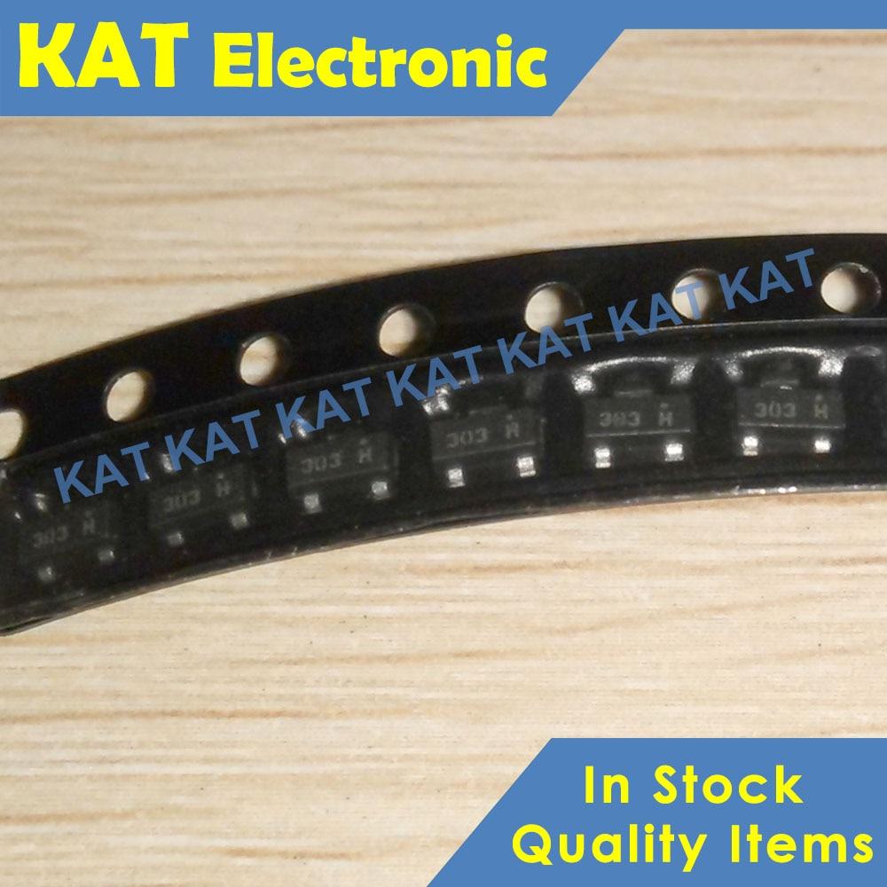 20PCS/Lot FDV303N Marking Code 303 303* SOT-23 New&Original Digital FET,N-Channel