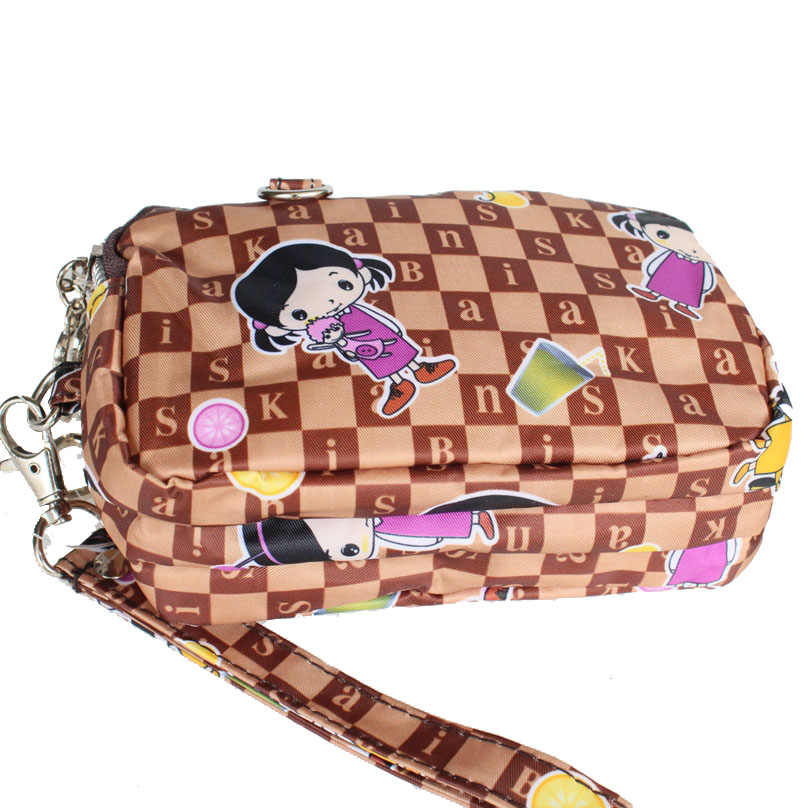 2ea6cf2801cb mini women hand bag purse cute 3 layers zipper coin purse clutch bag mobile  phone bag