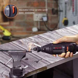 Image 4 - Goxawee mini broca elétrica, máquina de perfuração, com ferramentas elétricas, acessórios