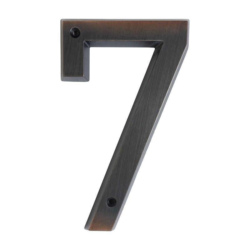 15cm Modern House Number Door