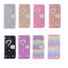 Glitter Phone Case For Samsung S5 S6 S6edg S10 Plus A32 A52 A72 A12 5G S21 Note 10 Note20 Plus Ultra A20e A11 A21Cover