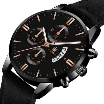 2020 fashion watch sports watch men's luxury watch leather strap quartz watch casual watch date men's watch automatic date watch guess watch