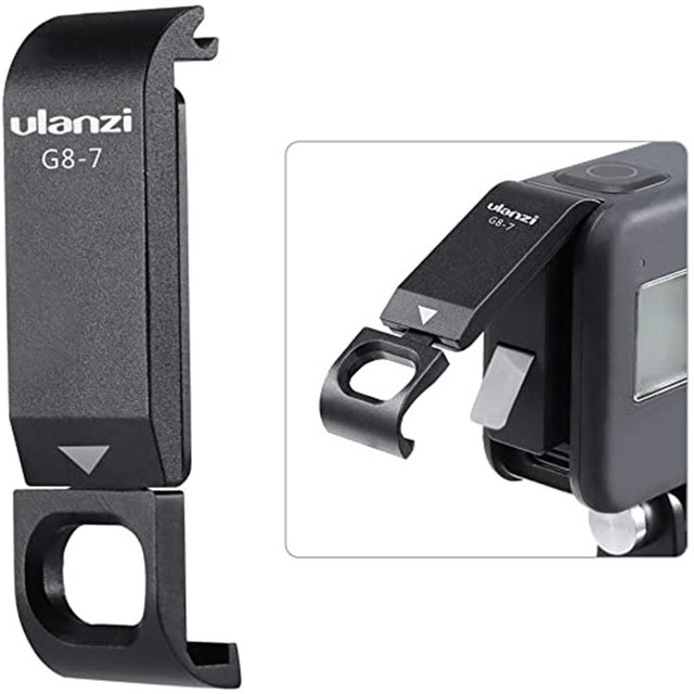 ULANZI G8 7 Protective Cover for Gopro 9 Hero 8 Black Battery Case Cover Type C Charging Port Adapter Vlog Accessory for Gopro 9