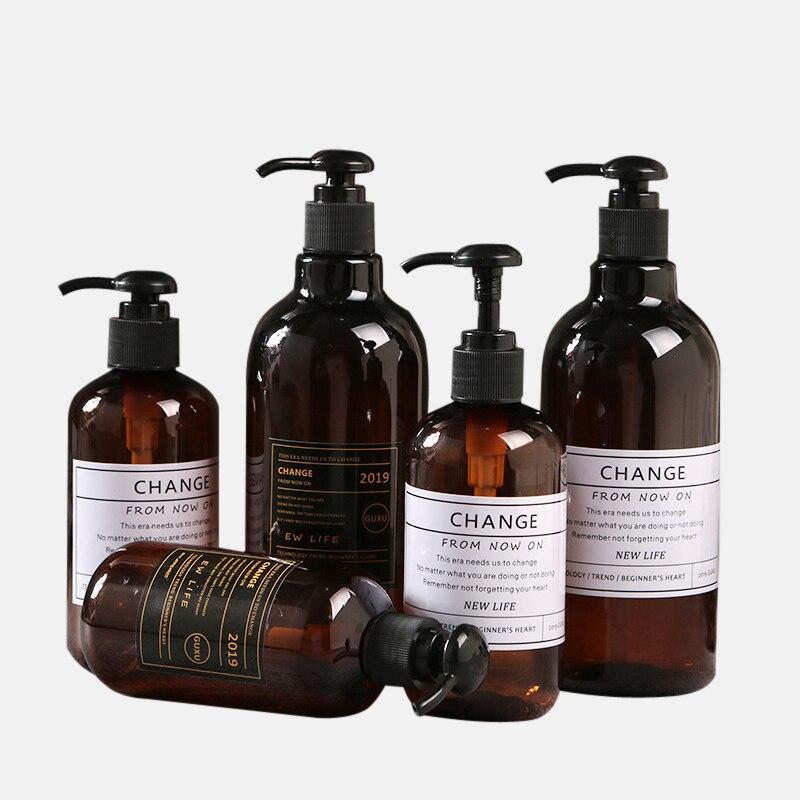 Tragbare Seife Spender Shampoo Presse Flasche Flüssigkeit Dusche Gel Nachfüllbare Nordic Stil Bad Produkte Flüssigkeit Seife Spender