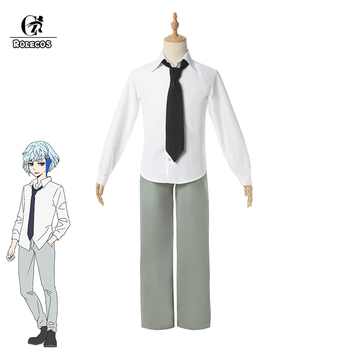 ROLECOS Anime Tower of God Cosplay Costumes Khun Costume Man White Shirt Gray Pants With Tie Koon Aguero Agnis Suit