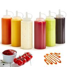 Cocina exprimidor botella Ketchup salsas mostaza exprimidor botellas botella de condimento chorro dispensador de apretar herramientas de cocina