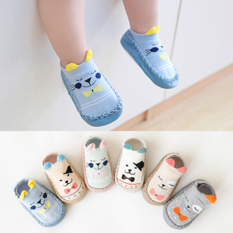 Fashion Baby Socks With Rubber Soles Floor Socks Shoes Anti Slip Soft Sole Sock