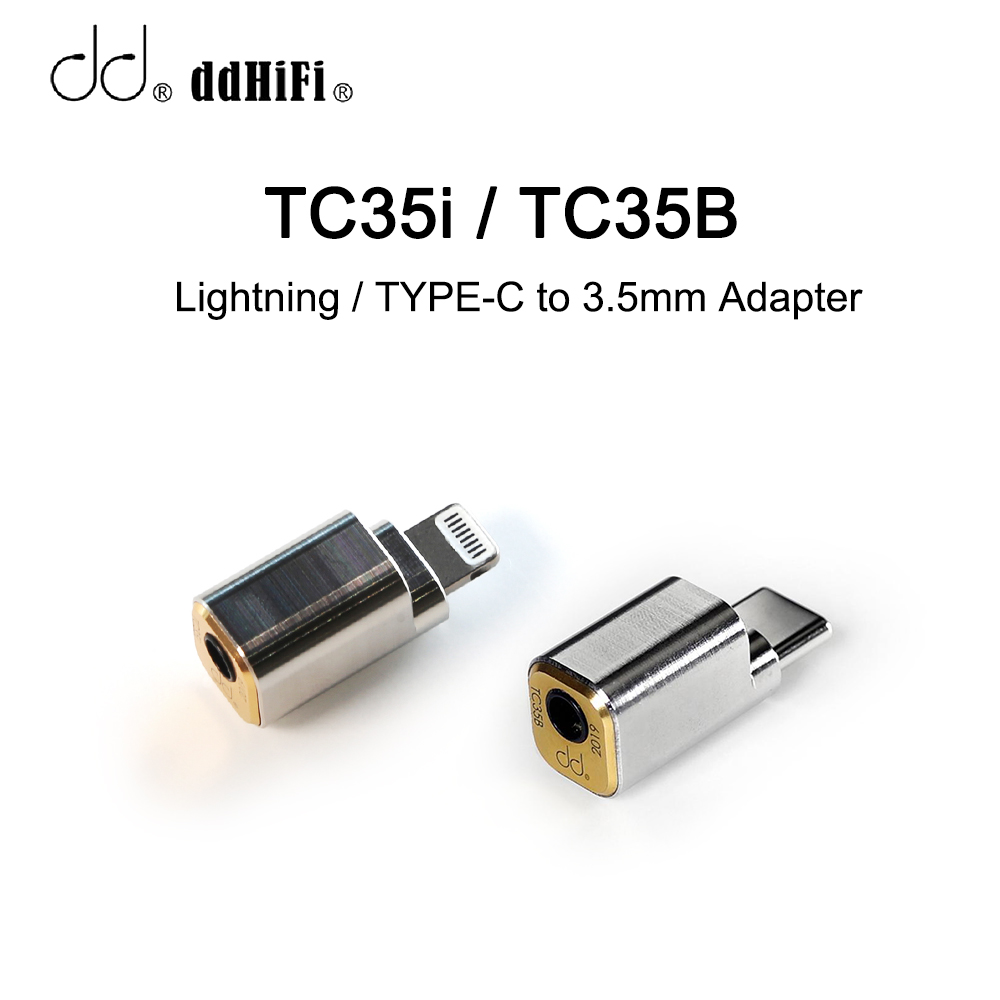 DD DdHiFi TC35i/TC35B Lightning/TYPE-C To 3.5mm Cable Adapter, For IPhone 11 IPad IOS, For Mobile Phone Huawei Xiaomi