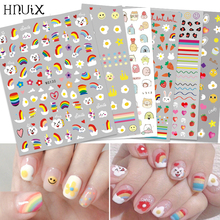 HNUIX Newest 3d nail art sticker Flowers Motifs  Nails Art manicure decal decorations design nail sticker for nail beauty tips aminy mono earsbaby bluetooth earphone black red