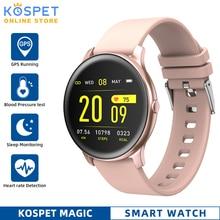 KOSPET magia kobiety inteligentny zegarek mężczyźni pulsometr tlen krwi Fitness Tracker KW19 Smartwatch dla IOS Android Xiaomi telefon