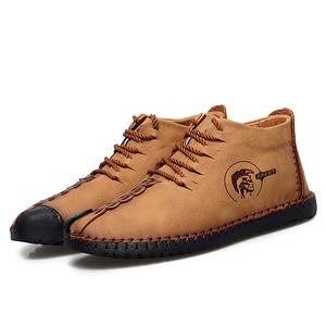 Image 5 - 38 47 נעליים יומיומיות גברים מותג נוח 2019 אופנה נעלי גברים עור #6016