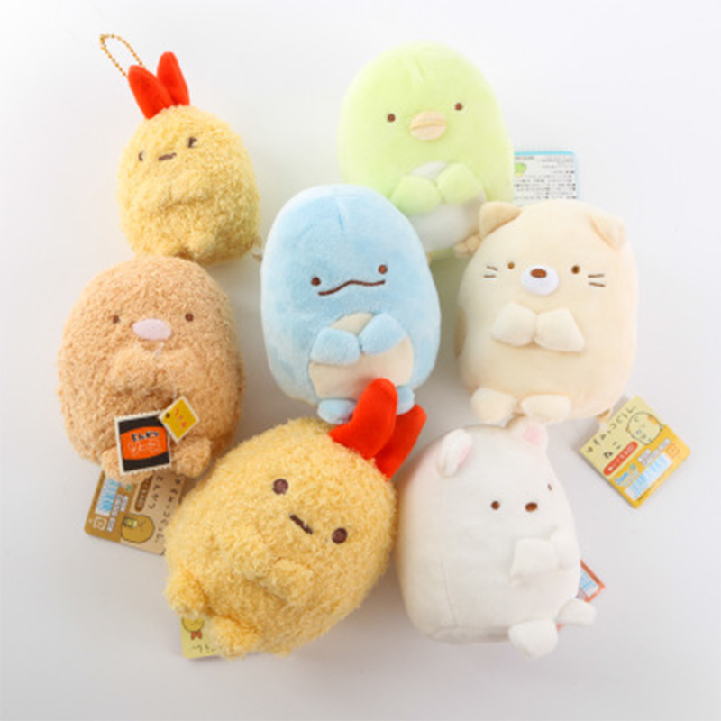 7Cm Sumikko Gurashi Plush Pendant Keychain Plush Toys For Childen Kids Stuffed Doll Toys Girls Birthday Gift Bag Hang Pendant